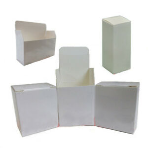 100pc Many Sizes White Coated Paper Box Packing Boxes Product Gift Packaging Box
