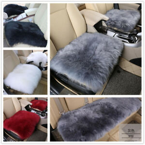 Real Australia Sheepskin Long Wool Front Rear Car Seat Covers Universal Fit