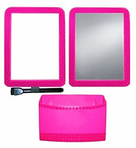 Inkology Color Rush Rhinestone 3 Piece Magnetic Locker Accessory Set Hot Pink