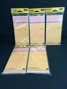 Post it Notes Super Sticky Magnetic Pad 4 X 8 Lined set Of 5 Packs