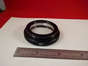 Microscope Part Olympus Japan Stereo Lens 0 75x Optics As Is am 09