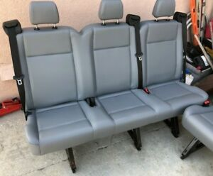 Ford Transit Oem Seat Pewter Vinyl 61 Triple Passenger cloth