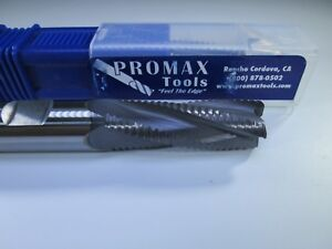 Promax 103 03214 Carbide 1 2 Roughing End Mill 4 Flute Milling Rougher Tool Bit