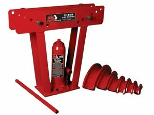 New Torin Big Red Hydraulic Pipe tube Bender With 6 Cast Dies 12 Ton Capacity