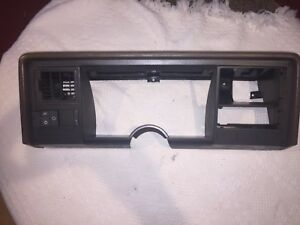 1988 1994 Tan Chevy Truck Tahoe Gauge Cluster Surround Bezel Dash Trim Pad Brown