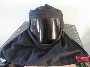 Professional Arch Hood 40 Cal cm2 Rating Nomex And Kevlar Hood With Hardhat