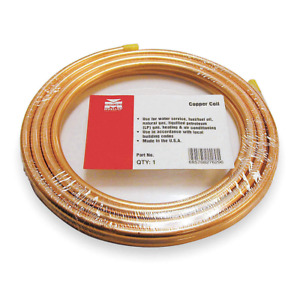 Mueller Industries 50 Ft Soft Coil Copper Tubing 1 2 Outside Dia 656r