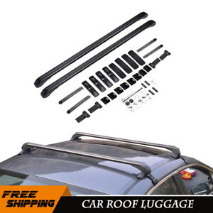 2x Suv Car Roof Top Cross Bars Luggage Cargo Rack Aluminum Universal