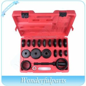 23pc Fwd Front Wheel Drive Bearing Removal Adapter Puller Pulley Tool Kit Case