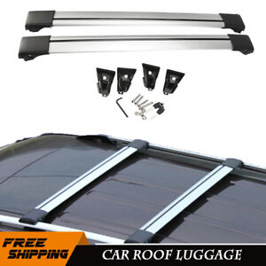 2x 39 Car Cross Bar Top Roof Luggage Rack Suv Cargo Carrier Aluminum Universal