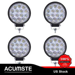 4x 4 inch 84w Cree Round Led Work Light Bar Driving Spot Beam For Suv Jeep Boat