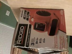 Blower Fan Air Mover Ridgit 600 Cfm Adjustable Vent Am2265 Free Shipping
