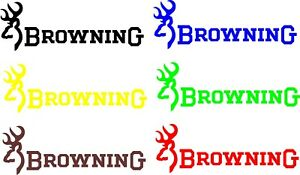 Browning Buck Deer Hunting Vinyl Decal Sticker Car Truck Window