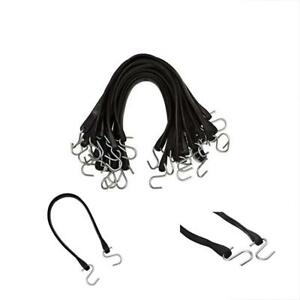 Kitchentoolz Natural Rubber Bungee Cords With Hooks 21 Inch 32 Max Stretch