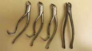 Set Of 13 Dental Extraction Forceps And Root Elevators