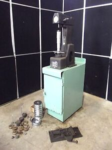 Rockwell Hardness Tester Model 4 Our Weights Cabinet Moves Easily S2571x