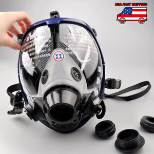 Full Face Facepiece Respirator Painting Spraying Gas dust Mask For 3m 6800 Usa
