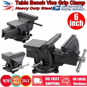 6 Heavy Duty Work Bench Vice Engineer Jaw Swivel Base Workshop Vise Clamp Us My