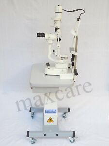 Slit Lamp With Applanation Tonometer 2 Steps With Table