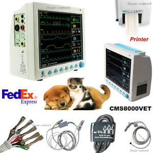 Us Veterinary Patient Monitor printer Vital Signs Icu ecg Spo2 Pr Nibp Temp Resp