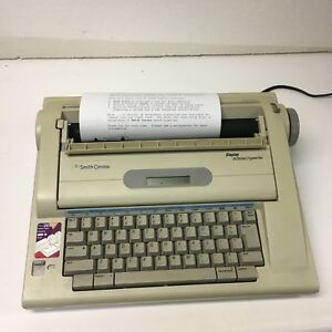 Smith Corona Electric Typewriter Display Dictionary Model Na3hh Tested T71
