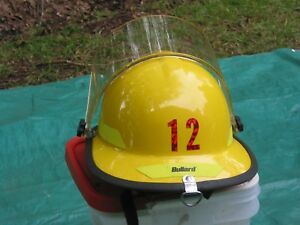 Yellow Bullard R721 Fire Helmet used