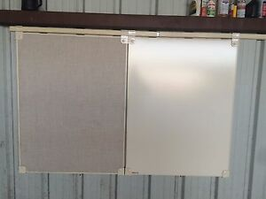 Egan Visual Conference Room 4 x3 Dry Erase Board And Tack Board On Track