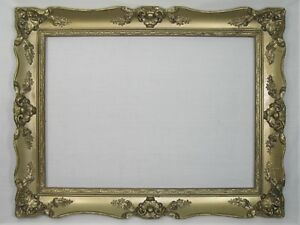 Vintage Gold Gilt Wood Gesso Ornate Picture Frame 16x22 Large