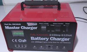 12v Car Battery Charger Large Metal Case 15a 150ah 100a Jump Start Booster