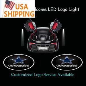 2x Dallas Cowboys Logo Car Door Welcome Spotlight Projector Shadow Led Light
