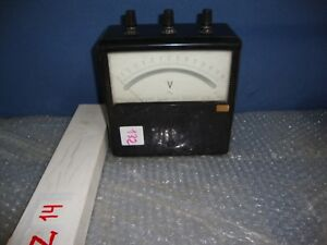 Yew Vintage Yokogawa Electric Works Portable Ac Voltmeter 1972