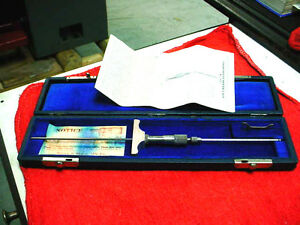 Antique Brown Sharpe 605 0 8 Micrometer Depth Gage W Fitted Case Free Ship