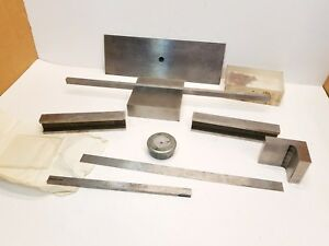 Lot Machinist Tools Blocks Parallels Bars Angle Plate Lathe Mill Tool Makers