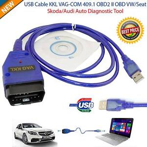Usb Cable Kkl Vag Com 409 1 Obd2 Eobd Diagnostic Scanner Bmw Vw Audi Seat Vcds