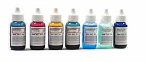 Microscope Stains Vital Stain Kit 7 Bottle Set 6 Different For Slides