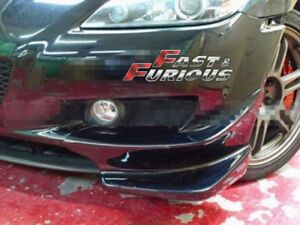 For Mazda Rx8 R Style Front Bumper Splitters Canards Aprons Flippers Lip