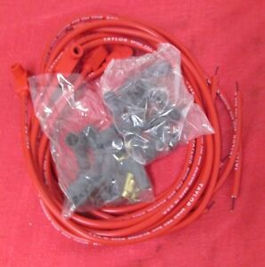 Spark Plug Wires Universal 6 Cyl Engines Taylor Red 8mm