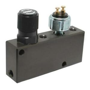 Black Adjustable Proportioning Block With Brake Switch Valve Built In Ford Gm