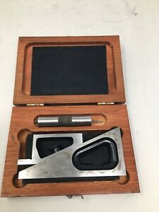Starrett No 599 Planer And Shaper Gage With 3 Extension Wood Case A3