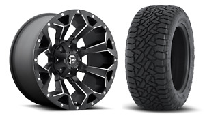 20x10 Fuel D546 Assault 33 At Wheel And Tire Package 8x180 Gmc Sierra