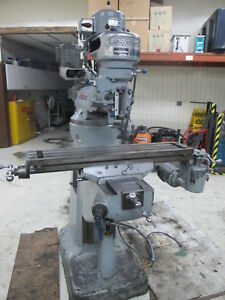 Bridgeport 42 Table Series 1 Belt Driven Mill W table Feed Cherry Attachment