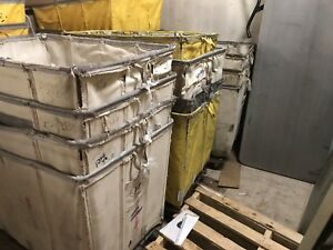 Used Warehouse Rolling Bucket Carts Vinyl Canvas Casters Commercial