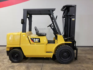 2007 Cat Caterpillar Dp45k 10000lb Pneumatic Forklift Diesel Lift Truck Hi Lo