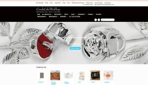 Wedding Party And Custom Gift E commerce Website For Sale 8000 Social Follower