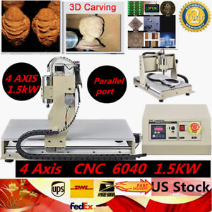 4 Axis Cnc 6040 Router 1 5kw Spindle Engraving Cutting Milling Machine Parallel
