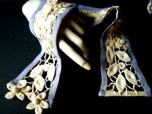 18c Old Victorian Belt Floral Design Bone Ribs 3d Design H Crochet Lace Europe