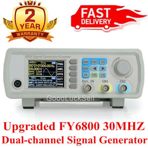 Upgraded Fy6800 30mhz Dual channel Arbitrary Waveform Source Signal Generator Ys