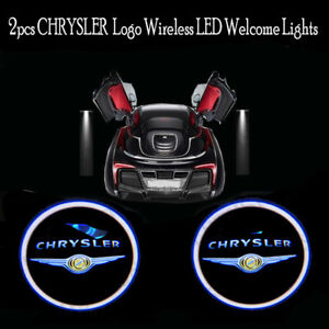 2pcs Wireless Led Car Door Welcome Light For Chrysler Logo Shadow Projector