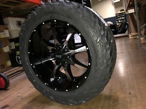 20x10 Moto Metal Mo970 35 Fuel Mt Wheels Rims Tires Package 6x135 Ford F150