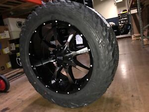 20x10 Moto Metal Mo970 35 Fuel Mt Wheel And Tire Package 5x5 Jeep Wrangler Jk